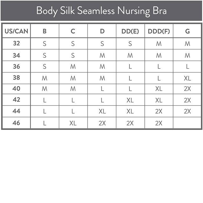 Size-chart-body-silk-seamless-nursing-bra-fall2016
