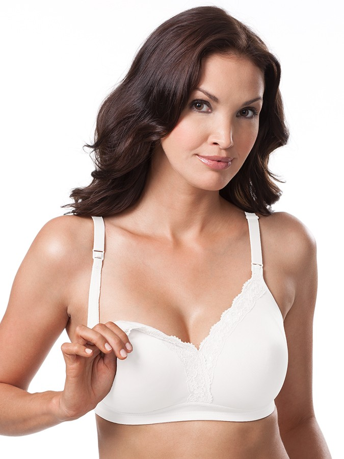 2d73227f82 Leading Lady 4006 Molded Wirefree Nursing Bra w Lace Neckline